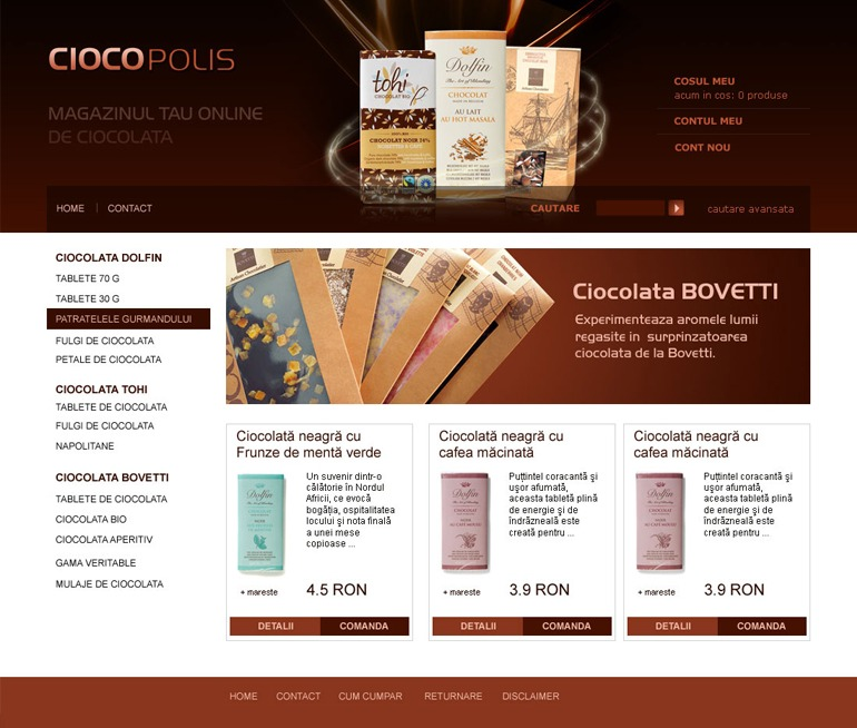 Creare magazin online Ciocopolis.ro-1