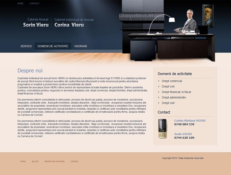 Realizare site de prezentare avocat-1