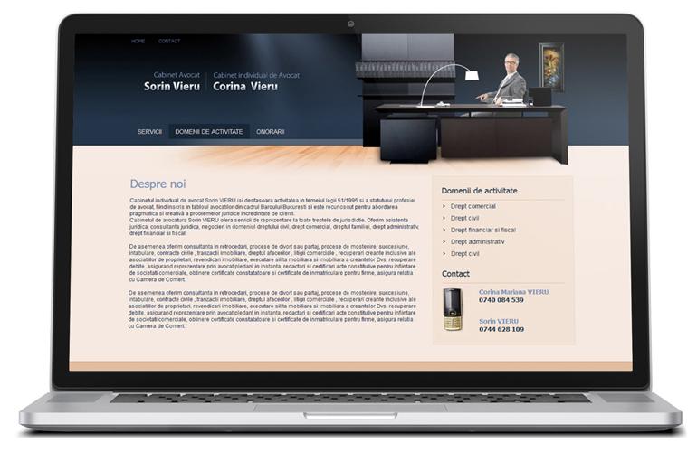 Realizare site de prezentare avocat-0