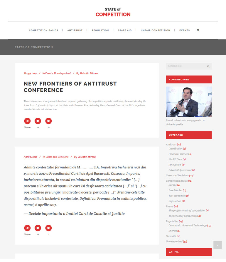Creare website blog SOC-1