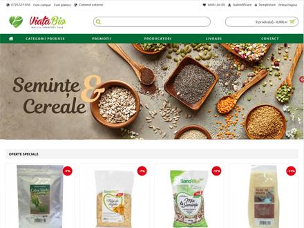 Creare magazin online Viata-bio.ro
