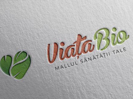 Viata Bio logo design