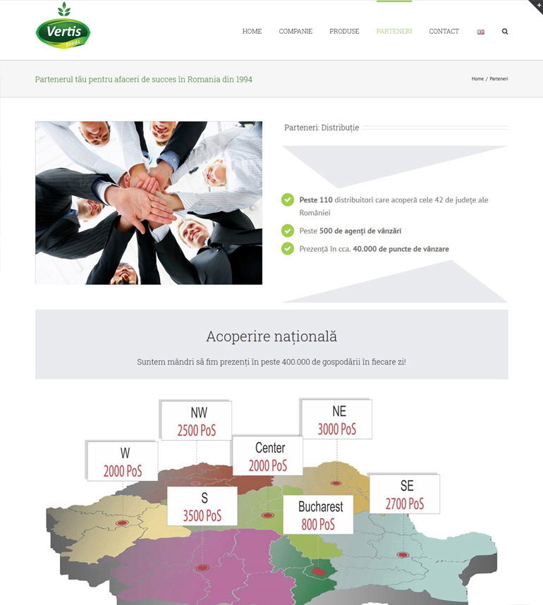 Realizare site de prezentare Vertis-1