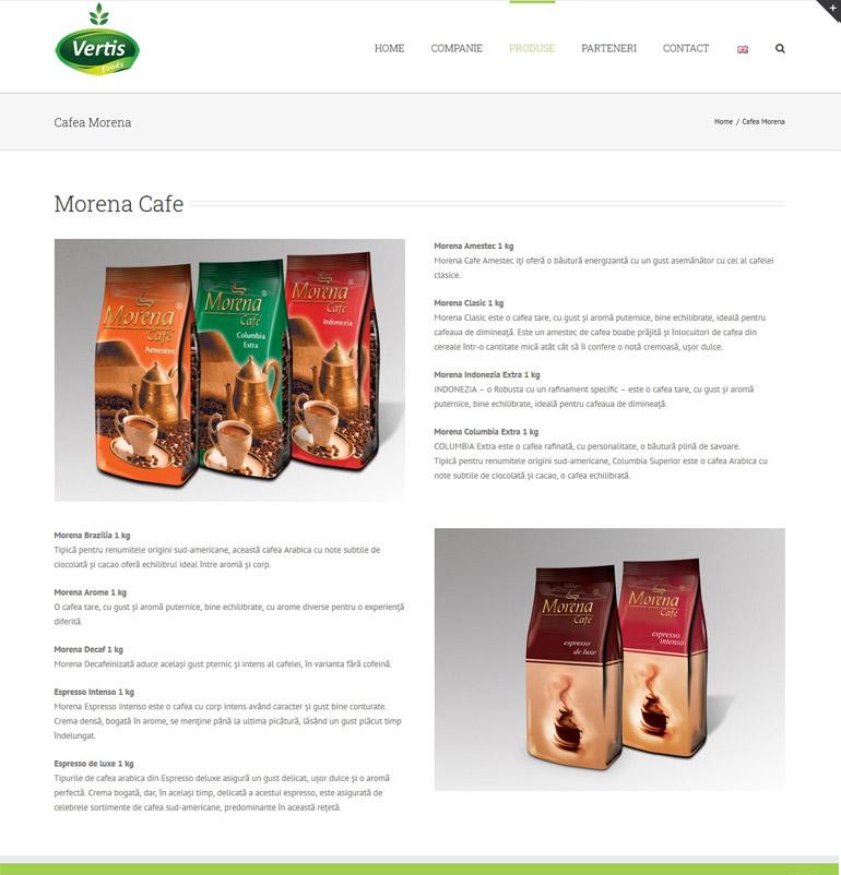 Realizare site de prezentare Vertis-2