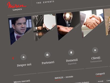 Realizare site web societate avocatura